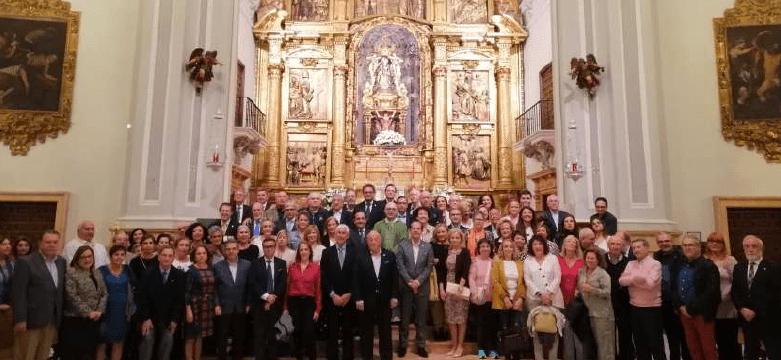 Encuentro de los representantes de las cofradías y voluntarios en la Basílica de la Virgen de la Victoria con motivo del VIII aniversario de la Fundación Corinto.