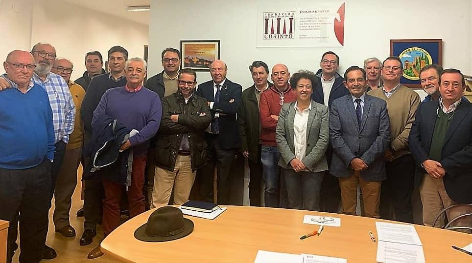 Representantes del patronato de la Fundación Corinto, tras la celebración de la reunión que eligió en diciembre de 2019 a la actual Comisión Ejecutiva de la institución.